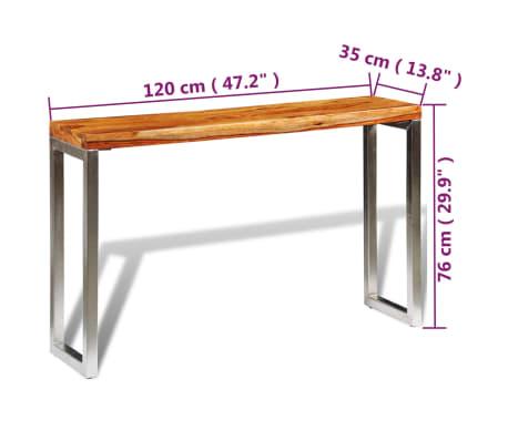 vidaXL Konsolinis staliukas su plien. koj., rausvos. dalbergijos med.[7/7]