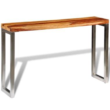 vidaXL Konsolinis staliukas su plien. koj., rausvos. dalbergijos med.[5/7]