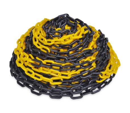 vidaXL Veiligheidsketting 30 m kunststof geel en zwart[1/2]