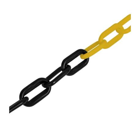 vidaXL Veiligheidsketting 30 m kunststof geel en zwart[2/2]