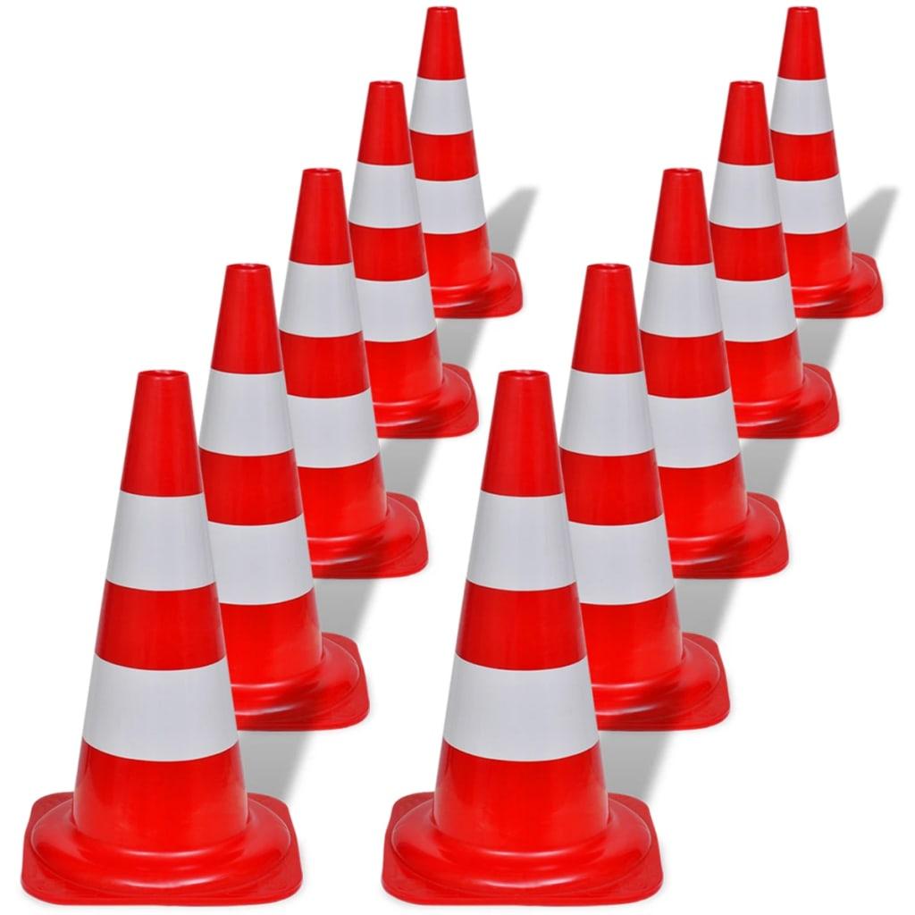 vidaxl-10-reflective-traffic-cones-red-white-50-cm