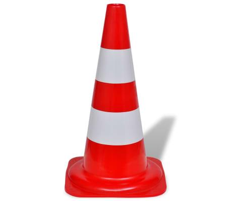 Conos de tráfico reflectantes rojos y blancos 50cm (10 unidades)[3/5]