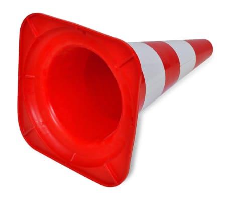 Conos de tráfico reflectantes rojos y blancos 50cm (10 unidades)[5/5]