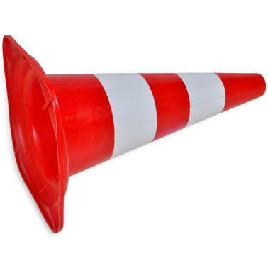 Conos de tráfico reflectantes rojos y blancos 50cm (10 unidades)[4/5]