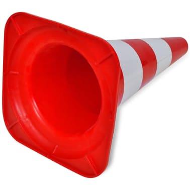 vidaXL Verkeerskegel reflecterend 50 cm rood en wit 10 st[5/5]
