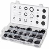 125 pcs Rubber Grommet Assortment Open/Closed Blind Blanking Hole