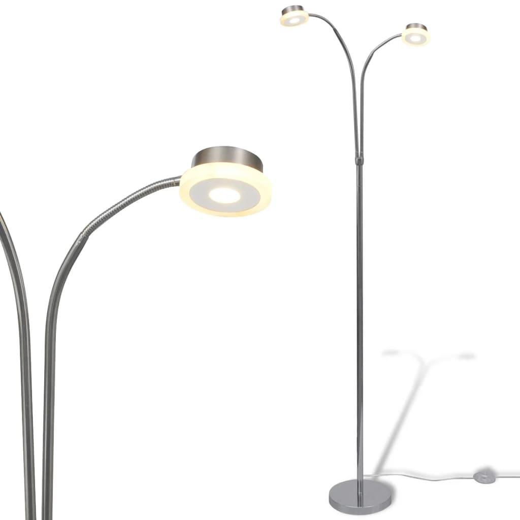 Dvouramenná nastavitelná stojací lampa s vestavěnými LED 2 x 5 W