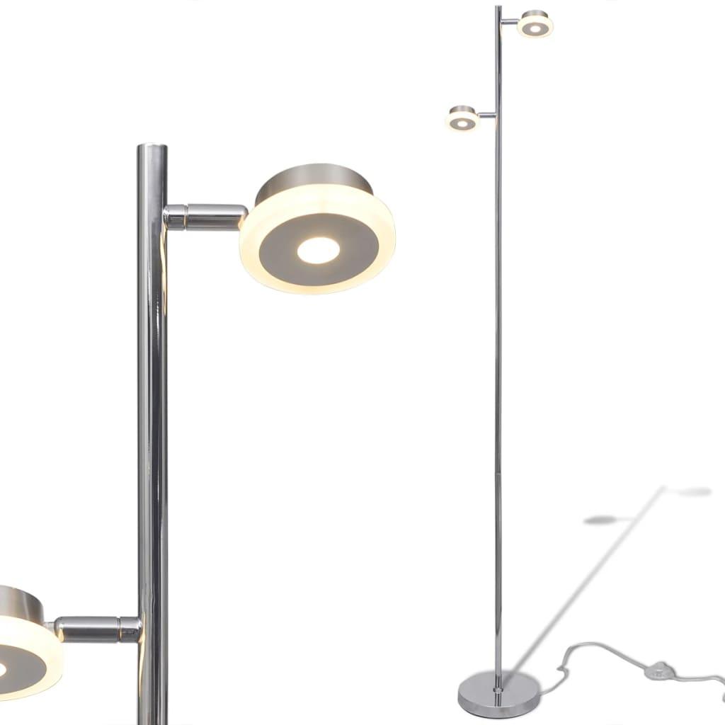 Lampă podea ajustabilă cu 2 abajururi și LED-uri încorporate, 2 x 5 W vidaxl.ro