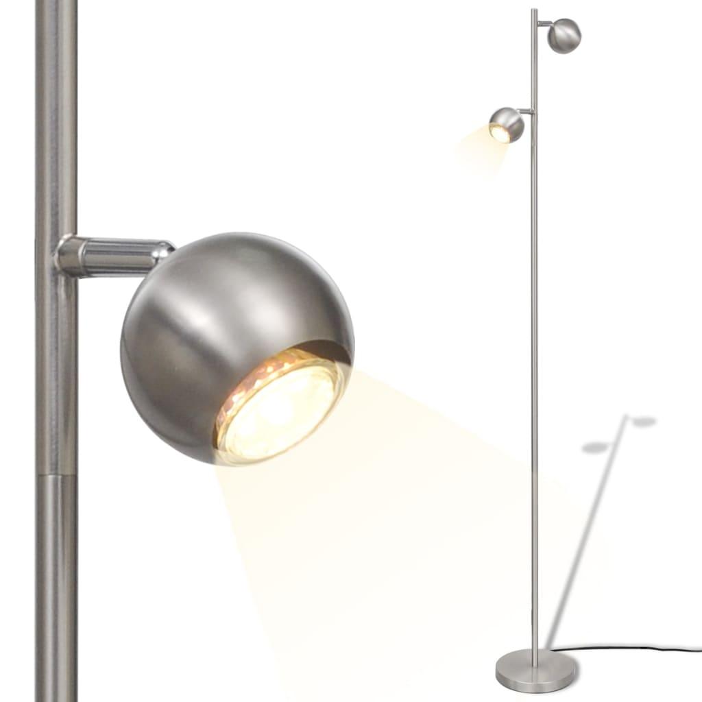 Lampă de podea cu 2 abajururi sferice și iluminare LED poza vidaxl.ro