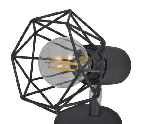 Sienas lampas, 2 gab., LED spuldzes ģeometriskos ietvaros, melnas[9/13]