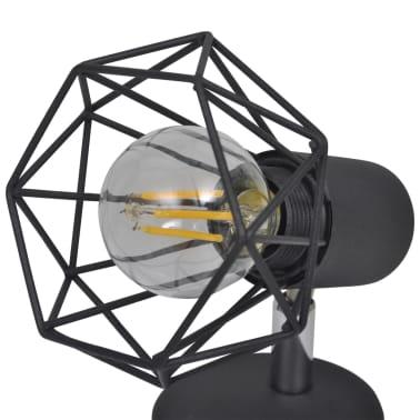 2 Vägglampor i industri-design med LED-glödlampor svart[9/13]