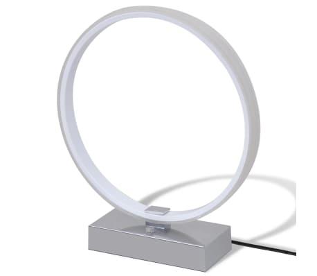 ringf rmige led tischleuchte nachttischlampe dimmbar wei g nstig kaufen. Black Bedroom Furniture Sets. Home Design Ideas