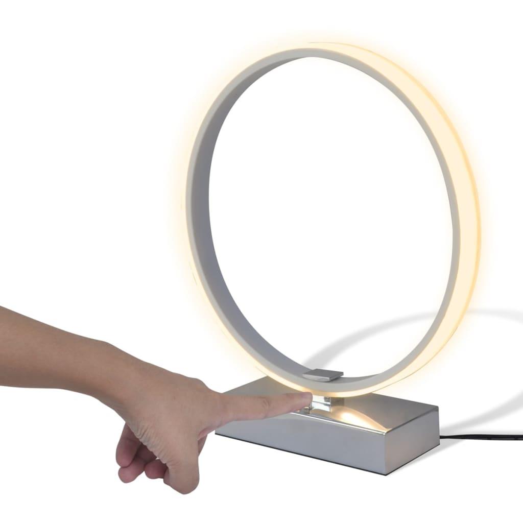 Lampă de masă LED în formă de inel cu lumină slabă, alb imagine vidaxl.ro