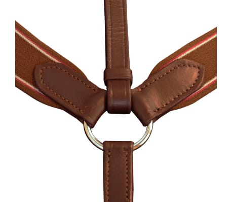 vidaXL Elastic Breastplate Leather Adjustable Brown Cob[2/2]