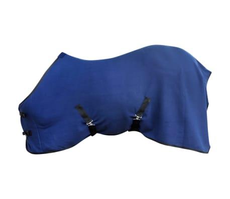 "vidaXL Fleece Rug with Surcingles 49.2"" Blue[1/3]"