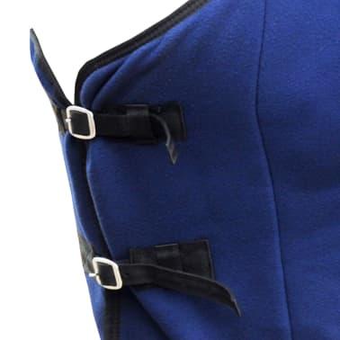 "vidaXL Fleece Rug with Surcingles 49.2"" Blue[2/3]"