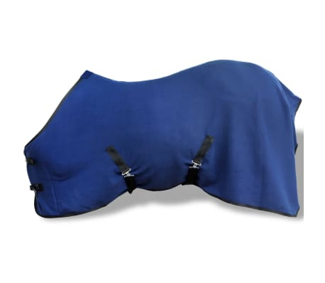 vidaXL Fleece Rug with Surcingles 145 cm Blue[1/3]