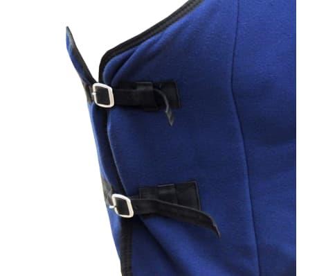 "vidaXL Fleece Rug with Surcingles 57"" Blue[2/3]"