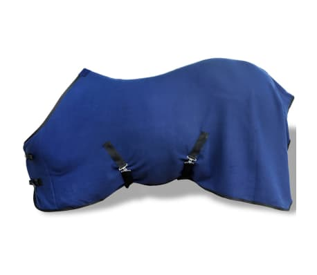 "vidaXL Fleece Rug with Surcingles 61"" Blue[1/3]"