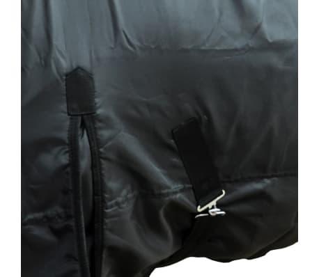 Fleecedecke Pferdedecke doppelschichtig + Kreuzbegurtung 105cm schwarz[2/3]