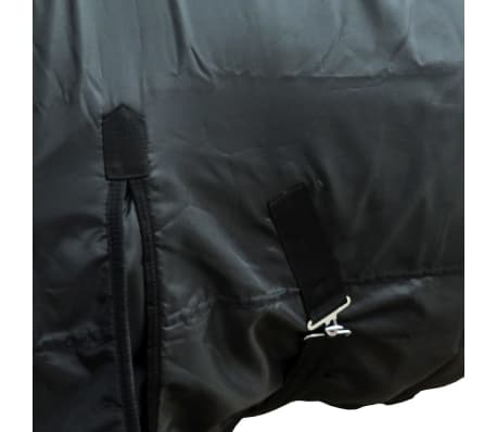 vidaXL Fleece Rug Double Layers with Surcingles 105 cm Black[2/3]