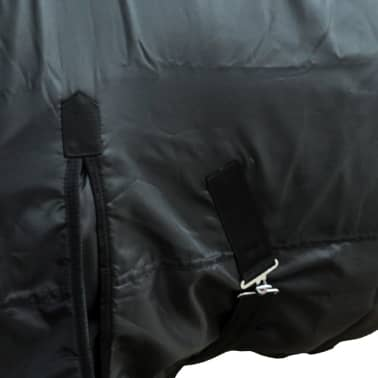 "vidaXL Fleece Rug Double Layers with Surcingles 41.3"" Black[2/3]"