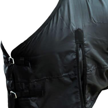 Fleecedecke Pferdedecke doppelschichtig + Kreuzbegurtung 105cm schwarz[3/3]
