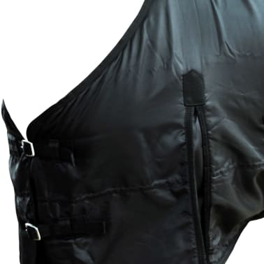 "vidaXL Fleece Rug Double Layers with Surcingles 41.3"" Black[3/3]"