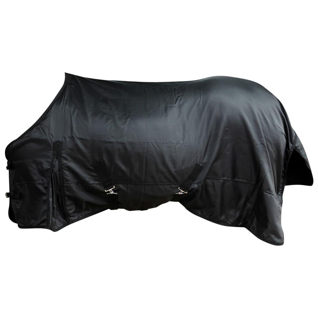 Fleecová dvouvrstvá deka s obřišníky 125 cm černá