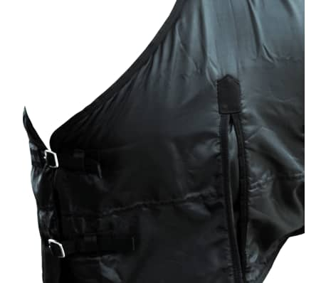 vidaXL Fleece Rug Double Layers 135 cm Black[3/3]