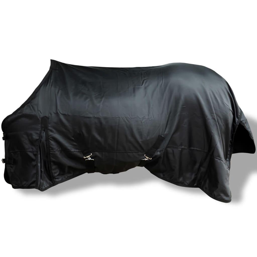 vidaXL Fleecová dvouvrstvá deka pro koně, 145 cm, černá
