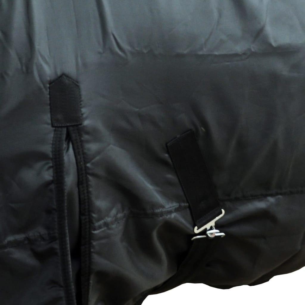 vidaXL Fleece deken dubbellaags 145 cm zwart