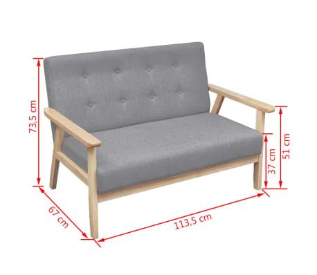 Vidaxl 2 Seater Sofa Fabric Light Grey