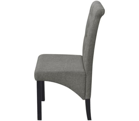 e70ba23fe148e vidaXL Tmavo šedé látkové kuchynské stoličky s vysokým operadlom, 2 ks[4/7