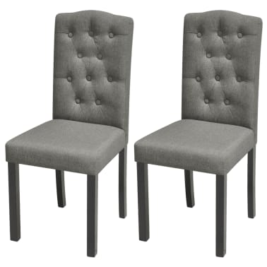 vidaXL Blagovaonske stolice od tkanine 2 kom svjetlosive[1/7]