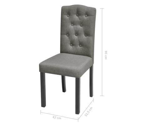 vidaXL Blagovaonske stolice od tkanine 2 kom svjetlosive[7/7]