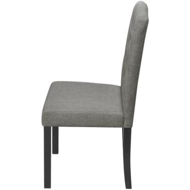 vidaXL Blagovaonske stolice od tkanine 2 kom svjetlosive[4/7]