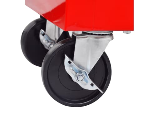 vidaXL Workshop Tool Trolley 7 Drawers Red[5/6]