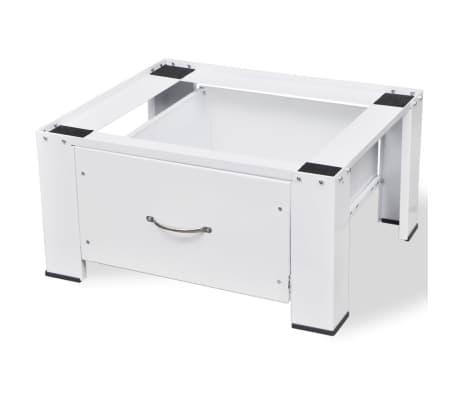 untergestell f r waschmaschine trockner sockel podest erh hung mit schublade ebay. Black Bedroom Furniture Sets. Home Design Ideas