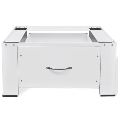 vidaXL Washing Machine Pedestal with Drawer White[4/4]
