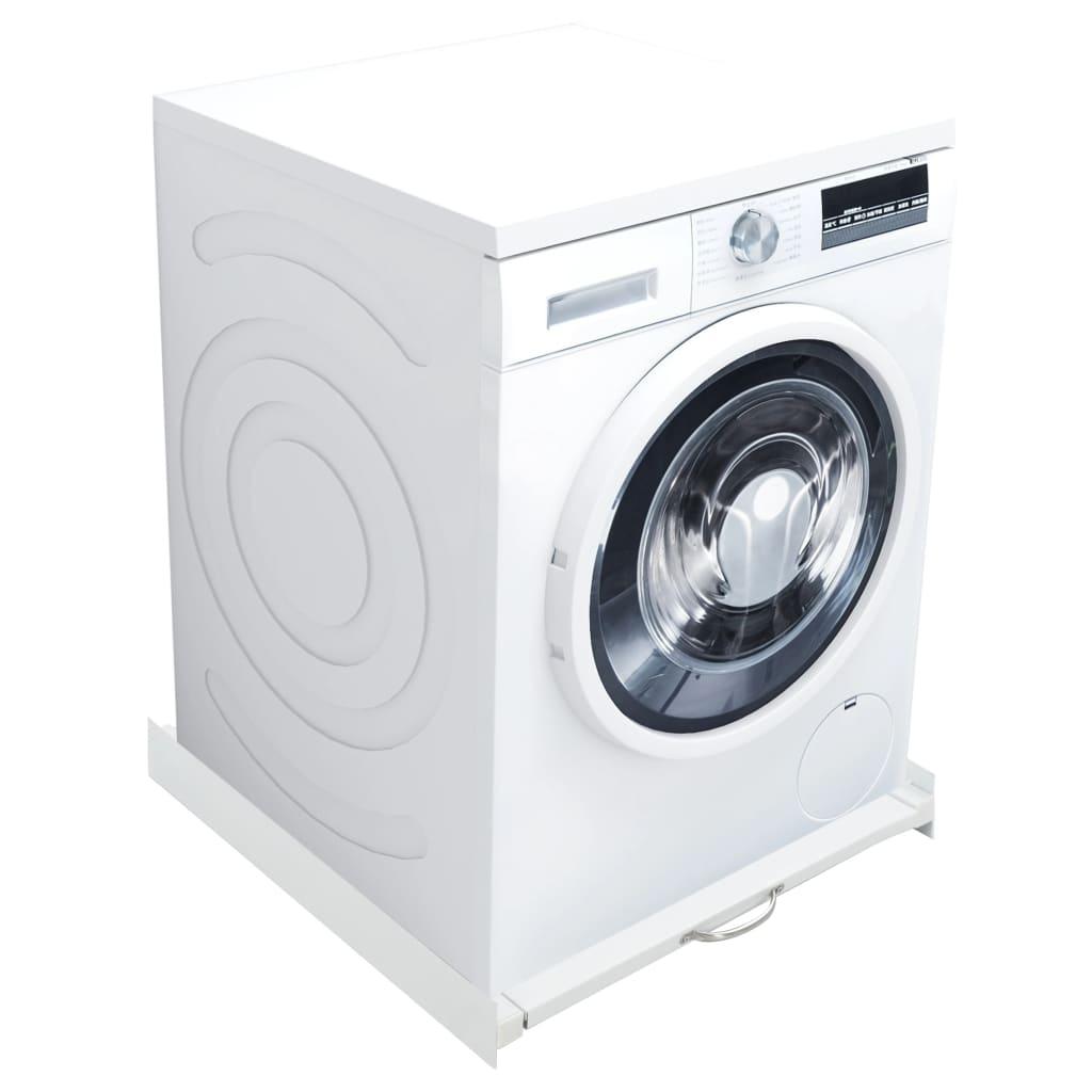 vidaXL Set de stivuire a mașinii de spălat cu raft retractabil vidaxl.ro