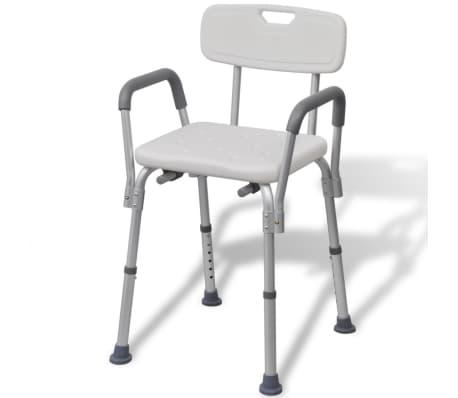 vidaXL Židle do sprchy hliníková bílá