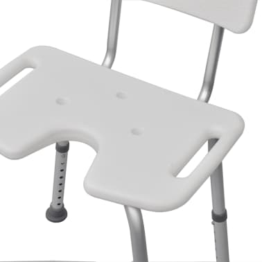 vidaXL Dušo Kėdutė iš Aliuminio, Balta[5/6]