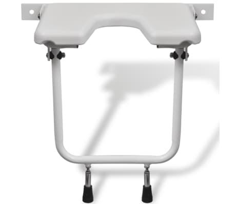Duschklappsitz Duschhocker Duschsitz Stahl weiß[2/5]