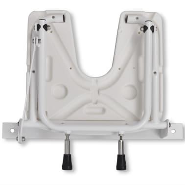 Duschklappsitz Duschhocker Duschsitz Stahl weiß[4/5]
