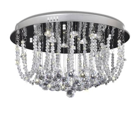 Stropné LED svietidlo - krištáľový luster s priemerom 45 cm[2/9]