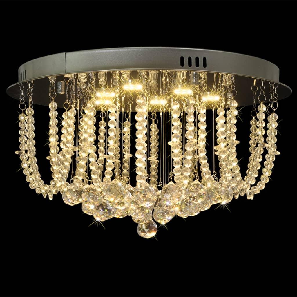 Lustră candelabru cu cristale și LED-uri, diametru 45 cm imagine vidaxl.ro
