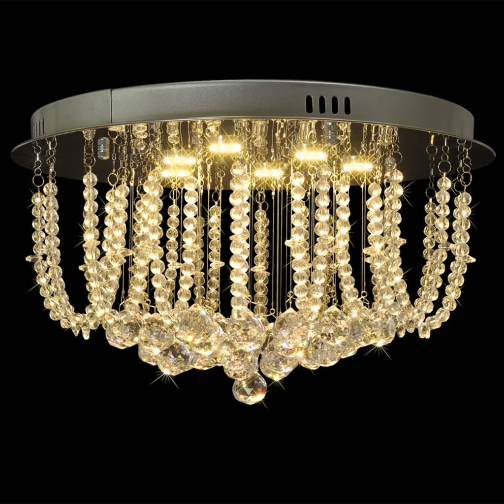 vidaXL LED krystall taklampe lysekrone 45 cm diameter