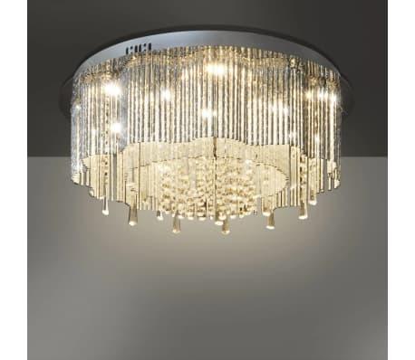 Acheter lustre plafonnier led en cristal diam tre de 55 cm for Lustre en solde
