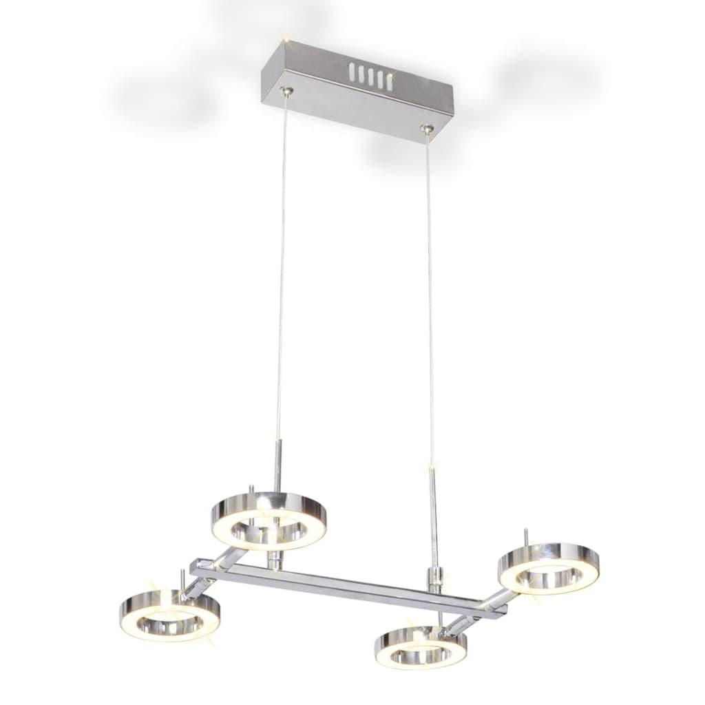 Lustră LED cu 4 becuri rotunde poza vidaxl.ro